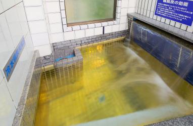 黄金に輝く水風呂