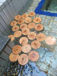 大阪能勢の檜風呂
